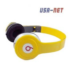 AUDIFONOS TIPO BEATS, PLEGABLES, COLORAMARILLO USA-NET
