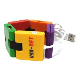 CONCENTRADOR CADENA DE 4 PUERTOS USB 2.0
