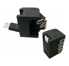 Concentrador Marca USA-NET de 4 Ports USB 2.0