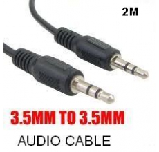 CABLE DE AUDIO 3.5MM A 3.5MM ( MACHO MACHO) DE 2 METROS USA-NET