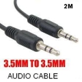 CABLE DE AUDIO 3.5MM A 3.5MM ( MACHO MACHO) DE 2 METROS USA-NET