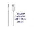 Cable de poder USB a 3.5mm (50mm)