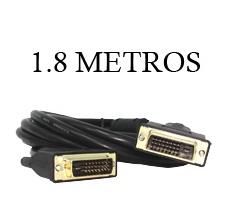 Cable DVI DVI 24+1 Doble Anillo & Gold Plate 1.8M
