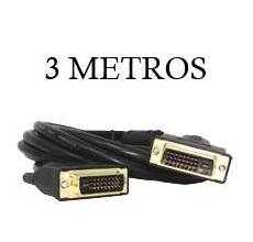 Cable DVI DVI 24+1 Doble Anillo & Gold Plate 3M