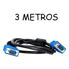 CABLE VGA PARA MONITORES 15 PIN MACHO MACHO 3MTS