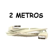 EXTENSION USB 2.0 MACHO, HEMBRA 2 MTS