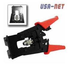 Alicate para conectores RG-59 RG-6 BNC RC Marca USA-NET