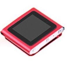 MP4 Nano Player ,FM ,Color Rojo 4GB 1,8 con ranura paraMemoria